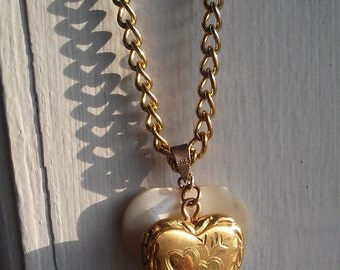 Double Trouble Hearts Handmade Necklace