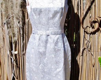 50s Cocktail Dress White Silver Party wear S / M
