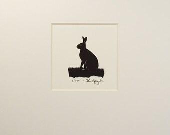 Hare Hand Cut Papercut