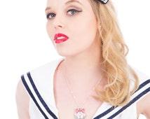 Anchor Hair Clip, Nautical Hair Clip, Rockabilly Hair Accessory, Felt Hair Clip, Nautical Wedding Headpiece, Sailor Hair Clip, Tattoo Style