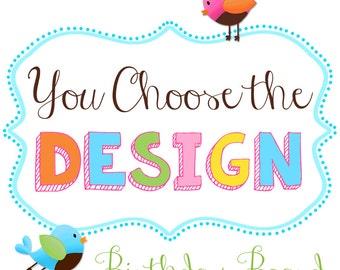 You Choose the Design BIRTHDAY BOARD Custom Birthday Family Birthdays Teacher Classroom Birthday Wall Décor Organizer Grandparent Gift