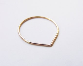 SALE Delicate Teardrop Gold Ring
