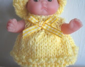 Knitting Pattern Berenguer Baby Doll Sun-kissed Set Itty Bitty dolls summer top crop pants sun hat pdf download doll clothes