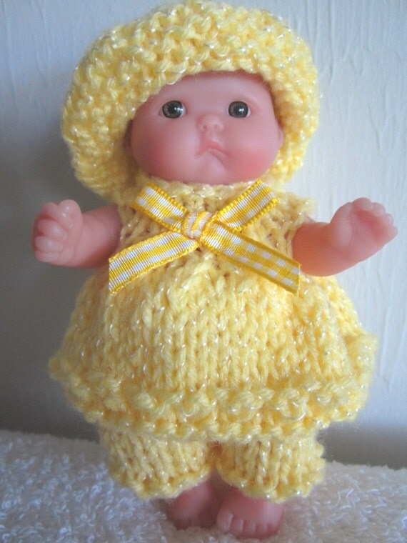 Knitting Pattern Berenguer Baby Doll Sun-kissed Set Itty Bitty
