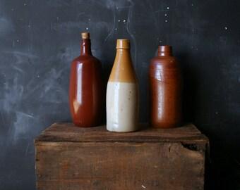 Vintage Ceramic Bottle One Ceramic Wine or Beer Bottle Vintage From Nowvintage on Etsy