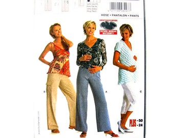 Maternity Pants Pattern Burda 8097 Maternity Pants or Capris Trousers Womens Maternity Sewing Pattern Size 10 to 24 UNCUT