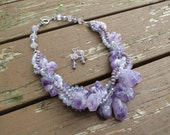 Chunky Amethyst Quartz with Lavender Crystals