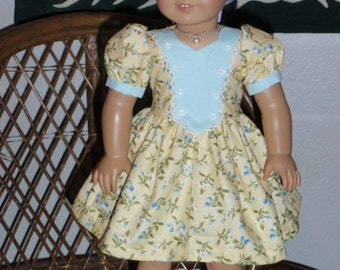 1940s Dress for American Girl Molly Emily 18 inch doll