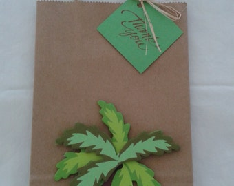 palm tree favor bags, party favor bags, beach favor bags,