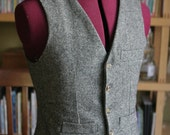 Non Pleated  Back Adult wool Vest Made to your measurements Groom / groomsmen