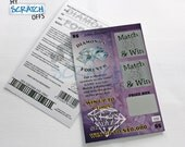 """Maid Of Honor Proposal (1 Card) Scratch-Off Lotto Replica """"Will You Be My Maid Of Honor?"""" Scratch Off Game Card"""