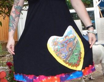 SALE I <3 Summer Tour Grateful Dead L Festival Hippie Tie Dye Patchwork Grateful Dead 50