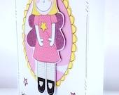Girl's Birthday Card - Fairy Princess - Personalised - Children's Birthday - Kids Card - Handcrafted - Fun Birthday Card
