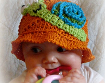 Crochet Unisex Sunhat pdf735 Infant to Adults
