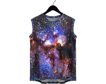 Milky Way Galaxy Tank, Reversible Stripes