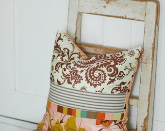 Bohemian, Farmhouse Pillows, Decorative Throw Pillows, Coral Throw Pillows, Farmhouse Chic, Cottage Pillows, Ticking Stripe, Boho Pillows