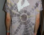 SALE Large Maine Grateful Dead Tie Dye Mens T Shirt