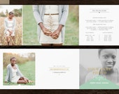 Photography Pricing Template 5x5 Trifold - Senior Photo Marketing - Digital Price List - Pricing Guide Templates for Photographers - m0191