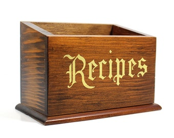 Vintage Wooden Recipes Box