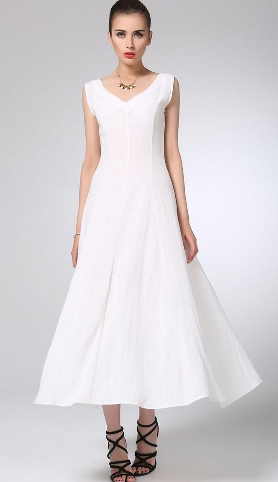 white dress linen dress maxi dress womens dresses maxi