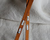 """wooden doll skis, 9"""" vintage for dolls or bears"""