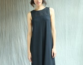 The Vivien Dress, bamboo jersey, aline, vback, modern chic- handmade to order