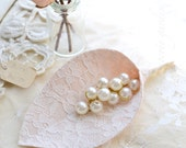 Romantic Blush Lace Boutonniere