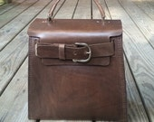 READY TO SHIP Leather Kelly Bag, Brown Leather Purse, Brown Leather Bag, Leather Bag, Purse, Womans Fashion, Leather, Handbag