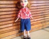 Ooak doll clothesfits bratz or Moxie girlz type dolls rescued doll clothes