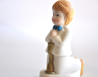 Boy First Communion Cake Topper