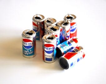 Mini Pepsi Cans Charms Set of 10