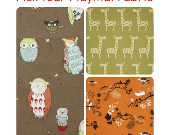Large Double Padded Baby Play Mat. Washable and Waterproof Baby Floor Mat. Owls, Birds or Giraffes.