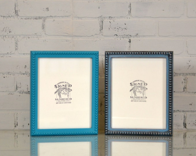 "8x10"" Picture Frame in 1x1 Decorative Bumpy Style and in Finish COLOR of YOUR CHOICE - 8x10 Decorative Frame Handmade - 8 x 10"""