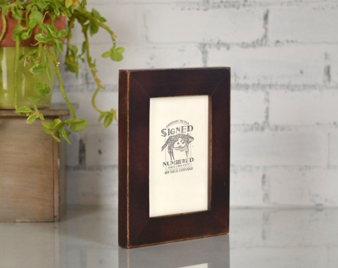 """5x7"""" Picture Frame in 1.5-inch Standard Style with Vintage Mahogany Finish - 5x7 Wooden Photo Frame - Can Be Any Color"""