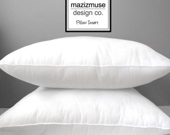 "Pillow Insert - 20""X20"", Outdoor Indoor Pillow Form, Poly-Fill, Hypoallergenic, Purchase with Mazizmuse Pillow Covers Only"
