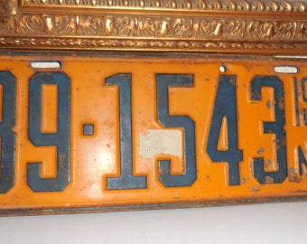 1933 Nebraska License Plate 39-1543 Auto Plate Man Cave Garage Decor