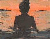RESERVED for LadyMeg. 3 payments for Summer Sunset . original painting