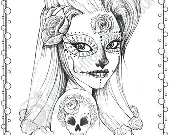 day of the dead coloring pages free coloring page for da de los