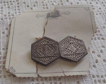 Vintage Belt Buckle Nouveaute de Paris Silver Tone Metal