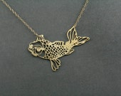koi fish necklace, koi necklace, koi jewelry