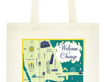 Chicago Totes - Set of 10