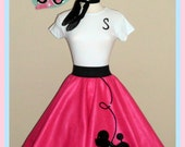 New! Ladies 3pc Prancing poodle skirt outfit Your choice of Size and Color S,M,L,XL,2X,3X,4X Prices from 86.00 and up!