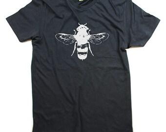 ORGANIC Bee Tshirt - Spring Fashion Tshirt - Honey Bee Tee , bees, bee art, bee print - XS, Small, Medium, Large,Extra Large, XXL - Clothing