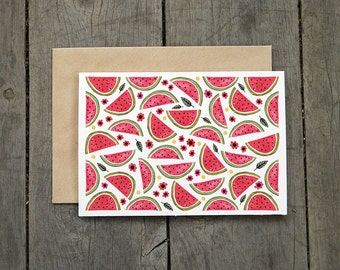 Summer Watermelon Greeting Card