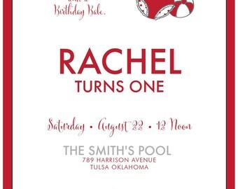 Birthday Babe Swim Suit Invitation Only