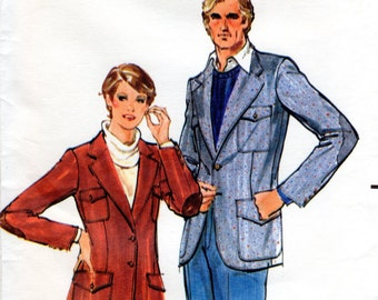 1970s Women's Blazer Jacket Pattern - Vintage Butterick 5645 - Multiple Sizes Available FF UNCUT