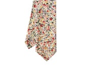 Molly - Pink Red Floral Men's Tie