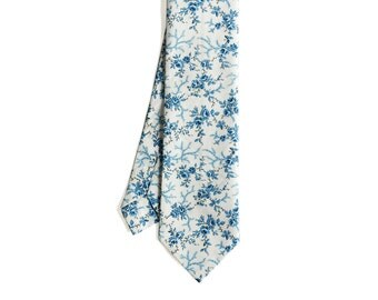 Elliot - Blue Floral Men's Tie