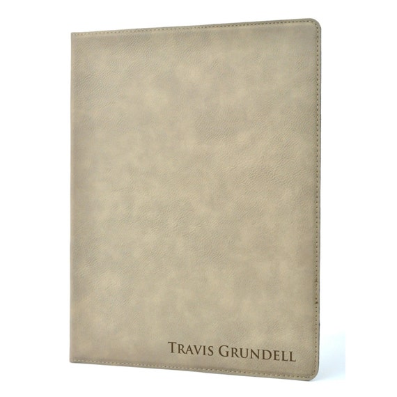 Personalized Leather Portfolio Notebook Journal Cover