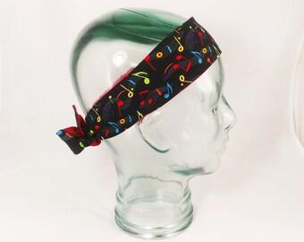 Music Notes Head Wrap Headband